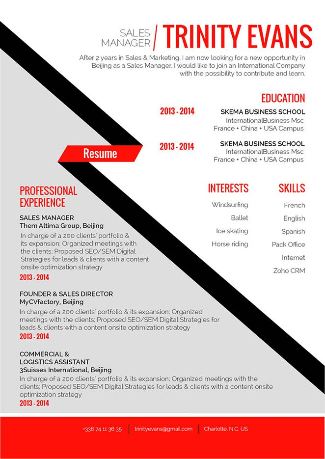 Get the attention of recruiters all thanks to this functional resume template!