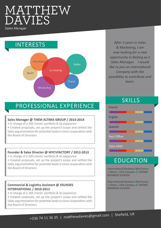 With great format and sections, this is will be the best resume your recruiter sees!