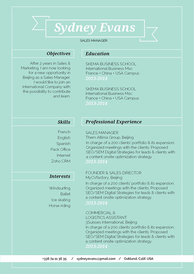 The formatting and lay out makes this template the perfect builder for a functional resume.