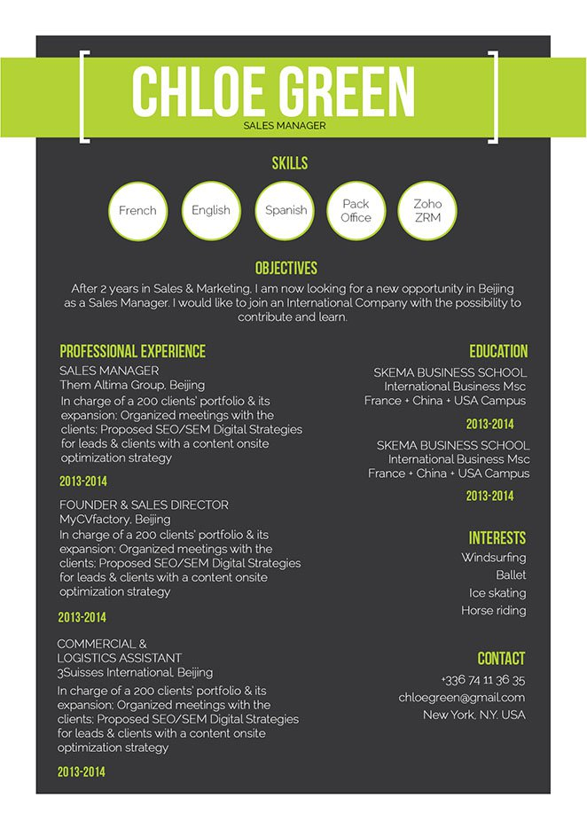 Format and layout crafter to perfection in this modern resume template