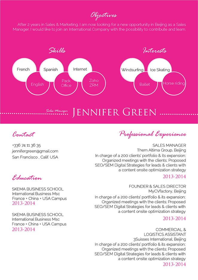 All the essential information is made readily avaialble with this simple resume template