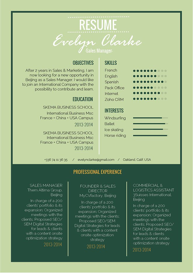 You are to land an interview with this modern resume template!