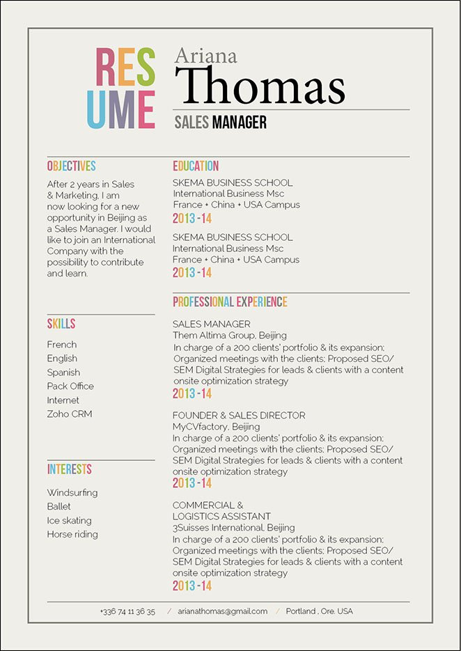 Land a great job with this modern resume template as it presents all your qualifications perfectly!
