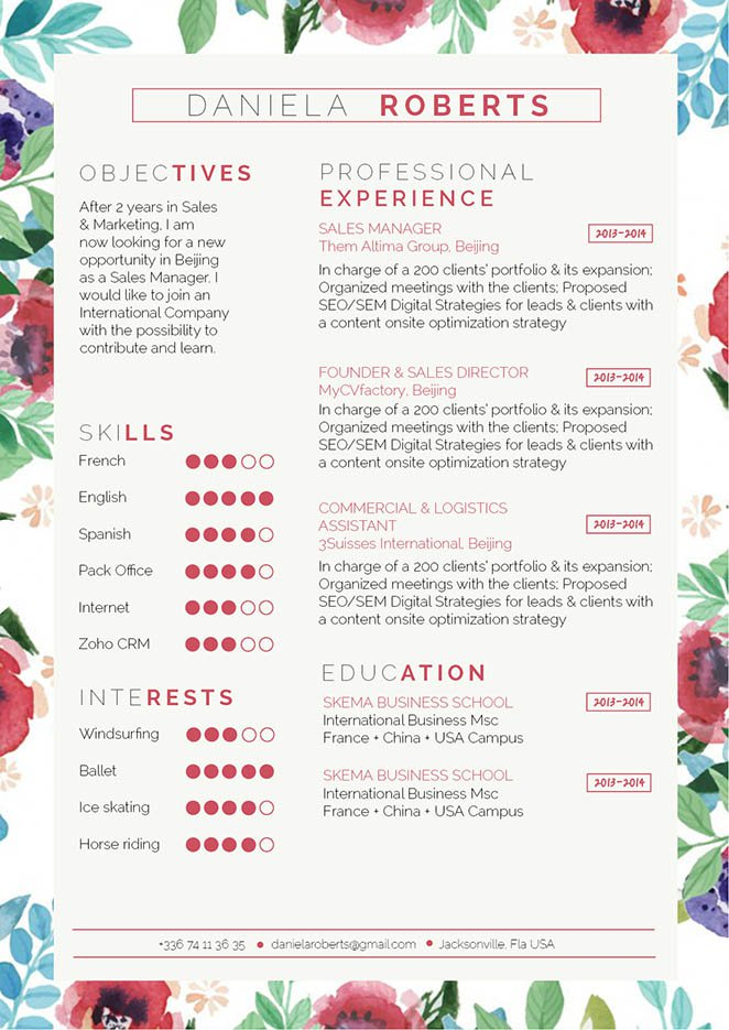 Get that dream job with this functional resume template!