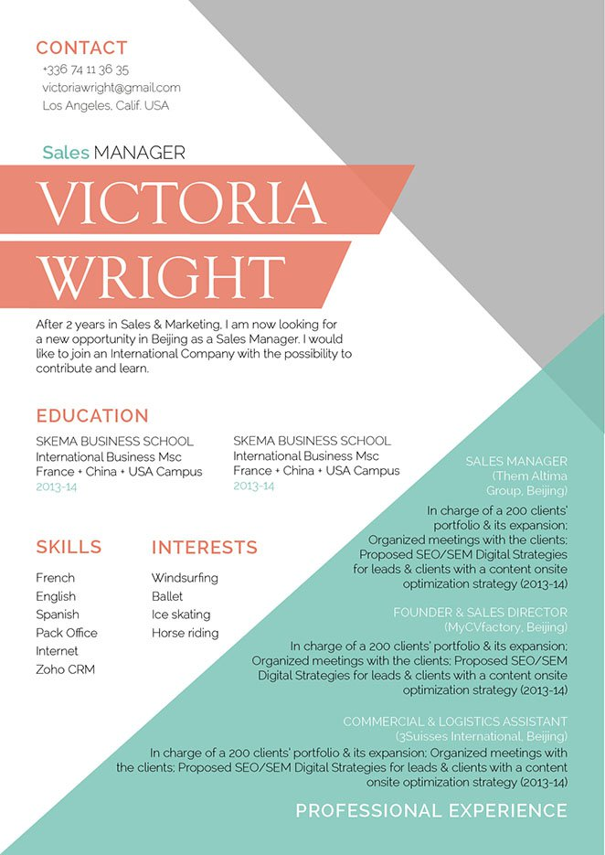 A clean and professional great resume template