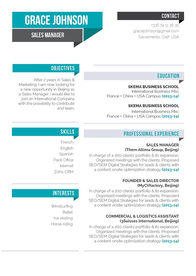 The best resume format for a great resume template that will grab the attention of any recruiter,