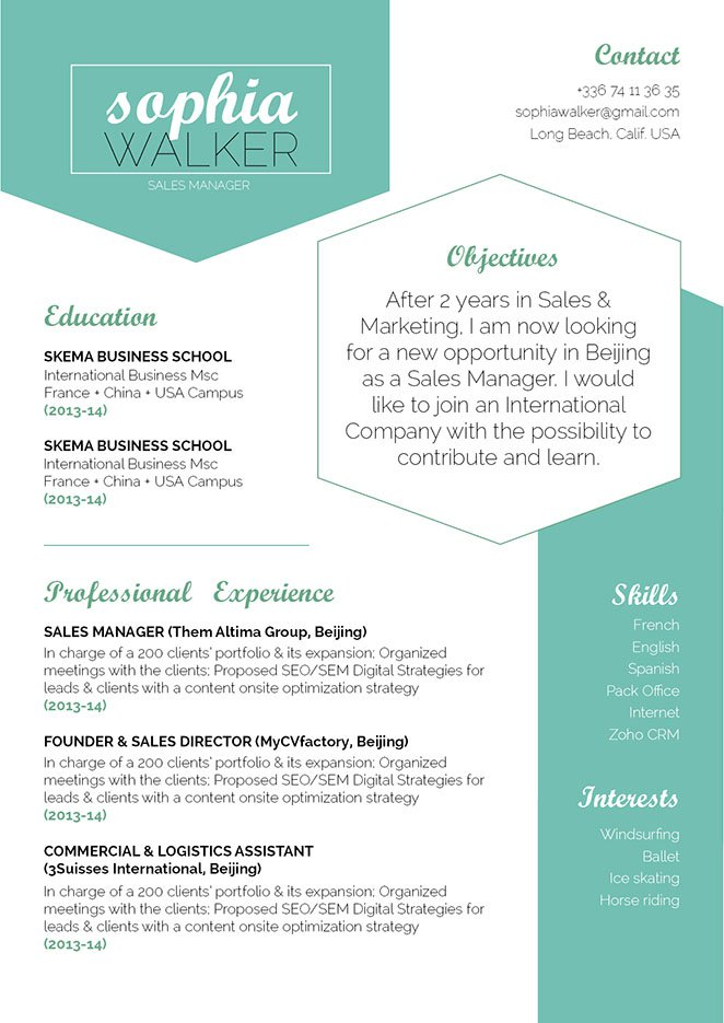 Clean and well-formatted great resume template!