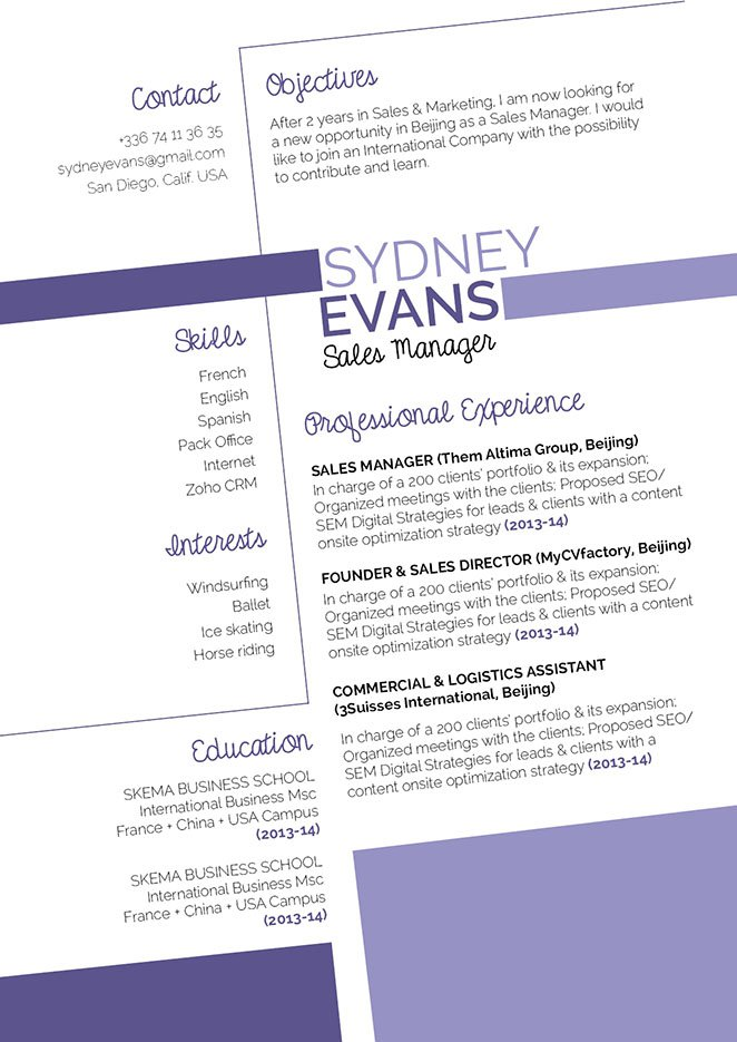 All the sections and formatting is greatly written in this functional resume template.