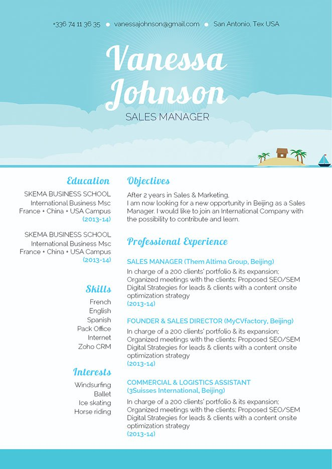 A modern resume template out that is formatted to perfection.