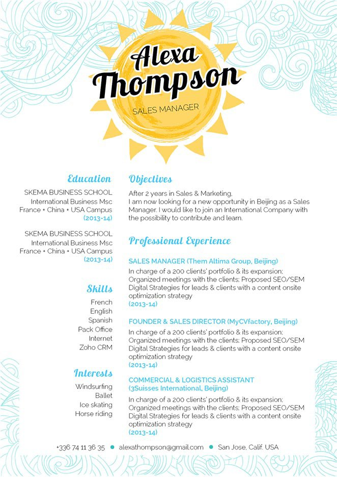 Well-crafter format makes this great resume a solid hit.