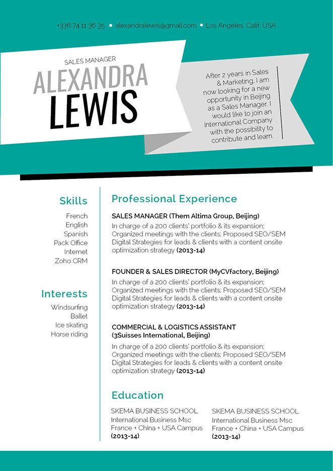 Grab the attention of your recruiter with this resume template's lay out