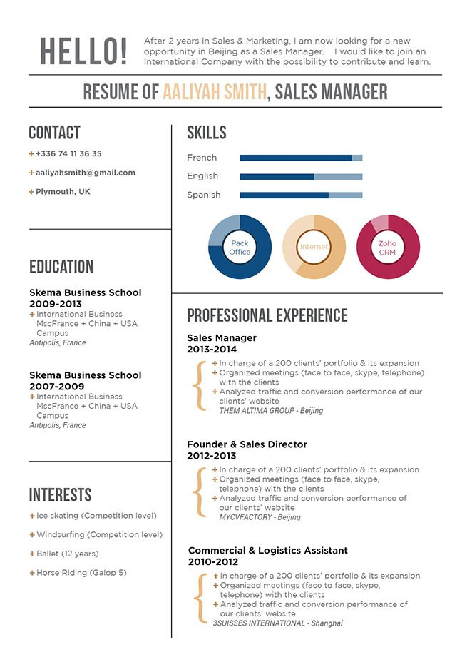Grab the attention of your recruiter with this resume template's great design and format