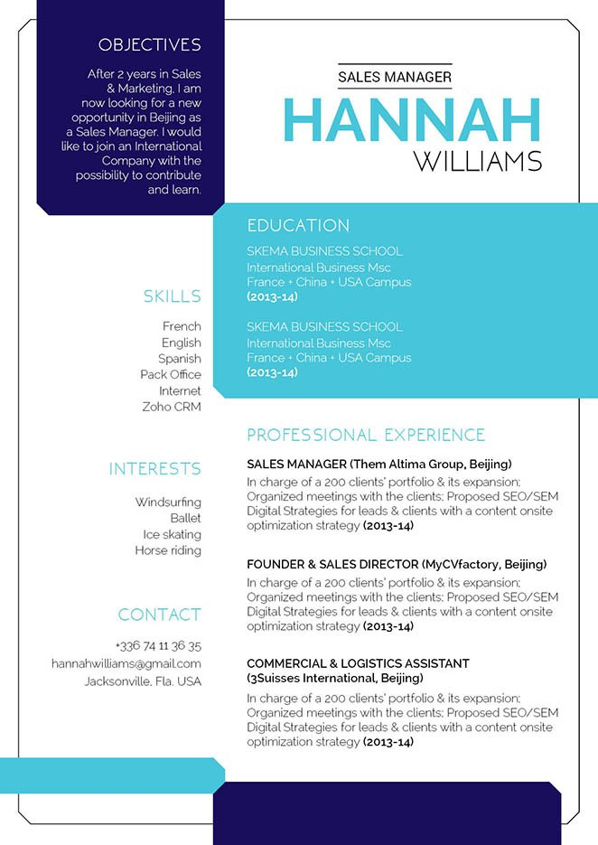 A clean format and layout will help you create that perfectly great resume