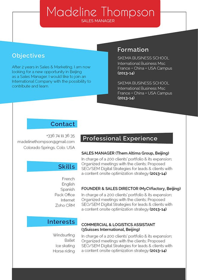 This resume template has it all going on!