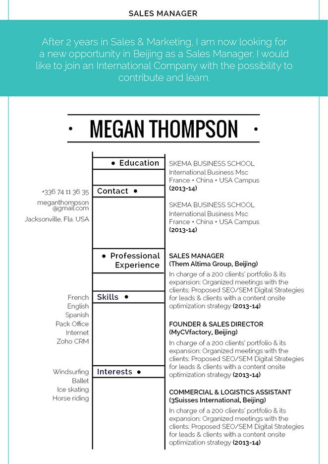 A modern format for a modern resume template -- the best choice you have!