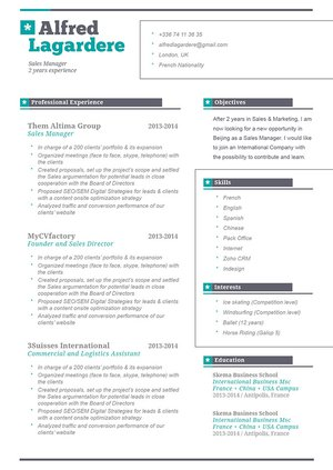 no need to go over the top this simple resume template will get you hired