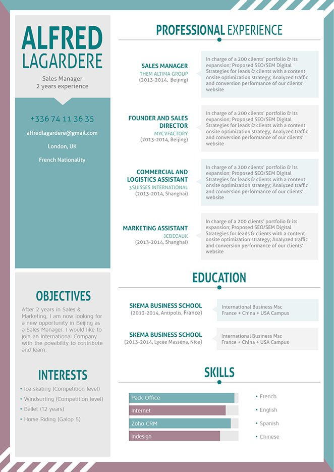 Functional and clean format for all job types. A professional resume template you need!