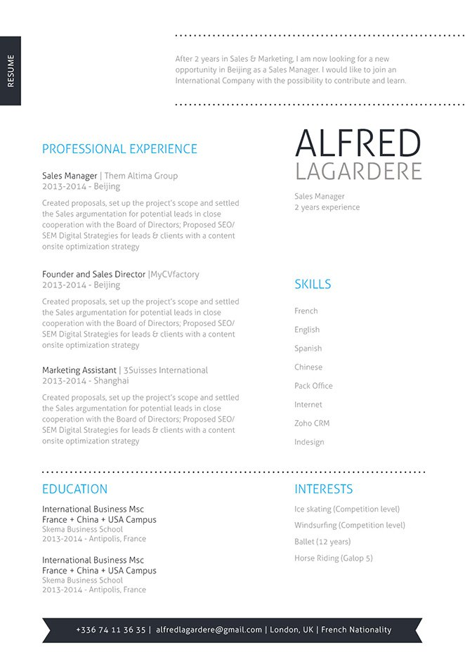 A clean and professional good resume template