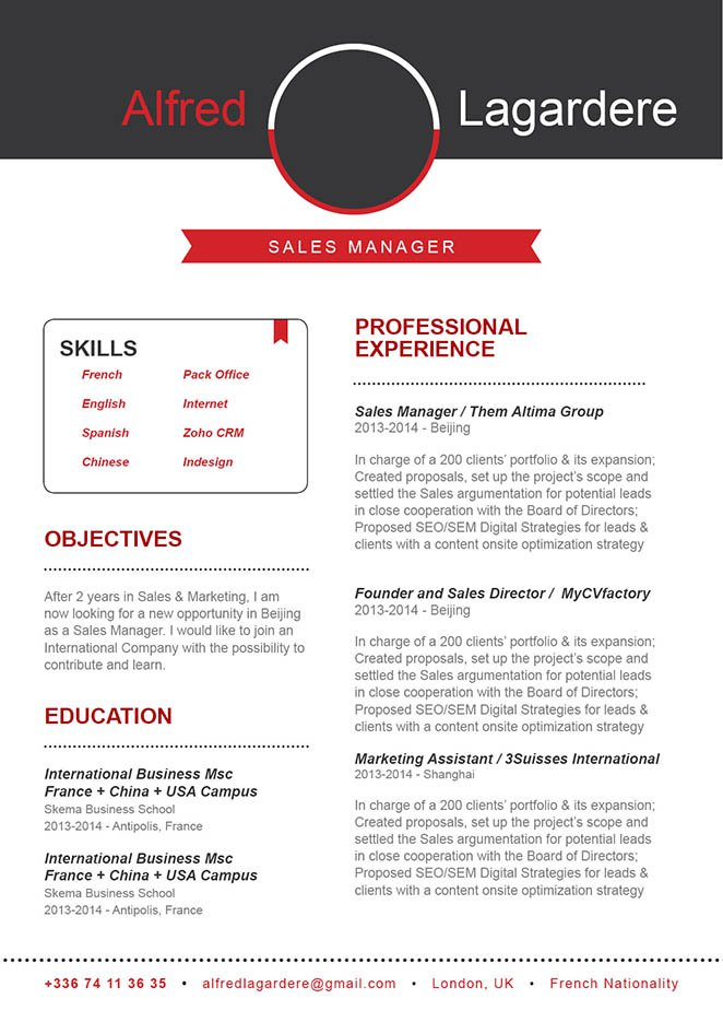 All the sections and formatting is greatly written in this simple resume format.