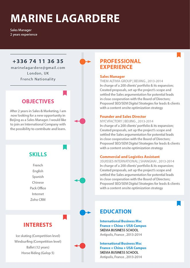 Every section is made to perfection in this functional resume template