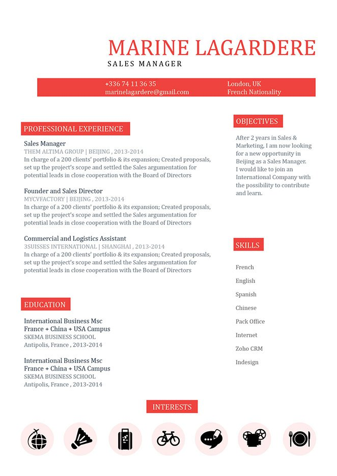 Achieve the job of your dreams with this resume! It has all you need in a simple resume format.