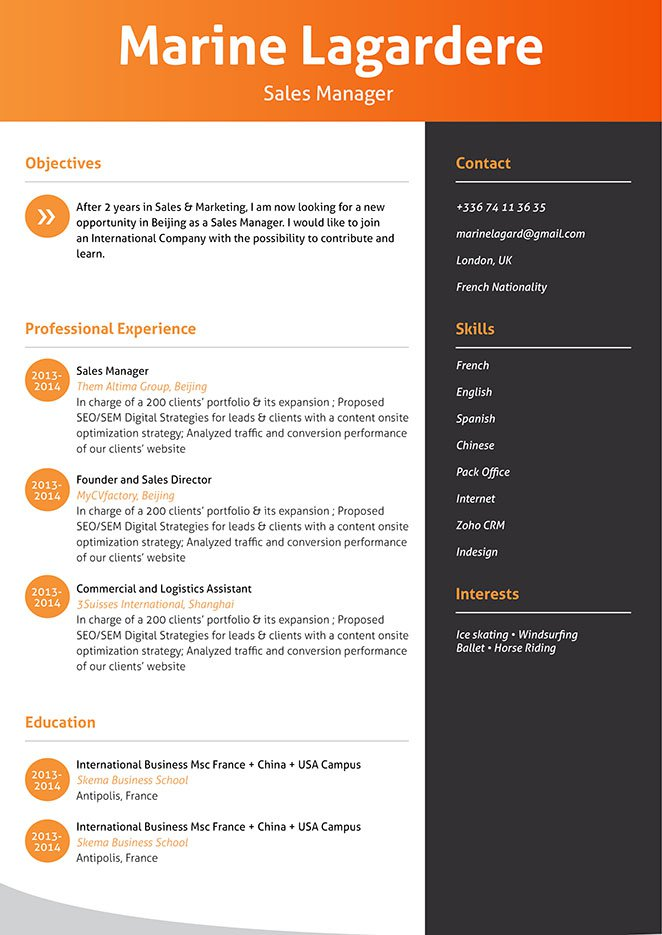 Format made to emphasize all the essential points. An effective resume template for sure!