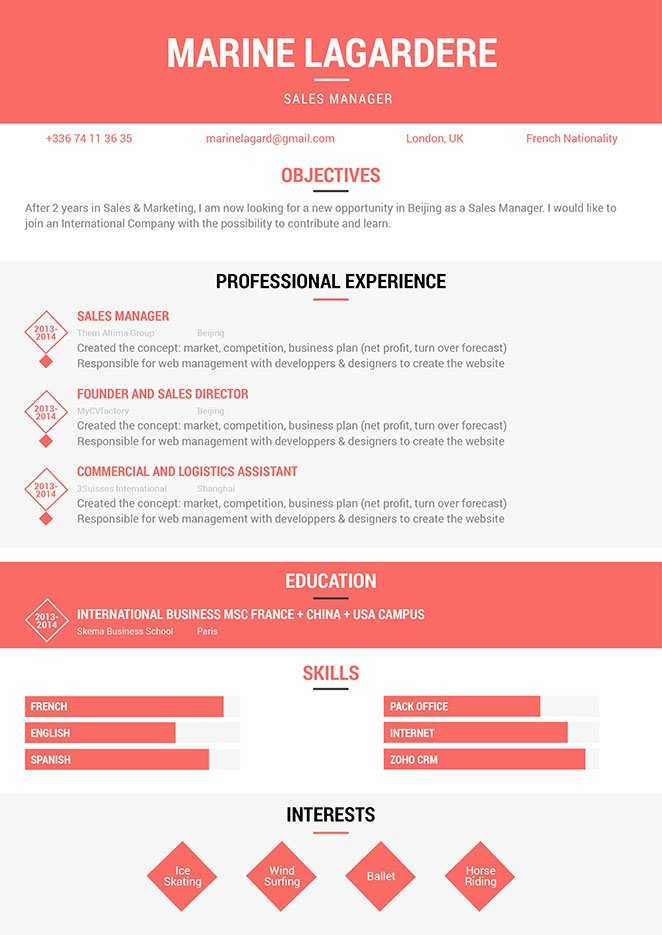 A simple resume format that provides more than enouhg functionality for the modern work age