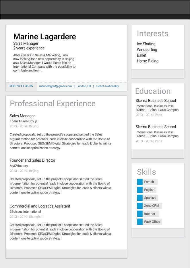 great resume template
