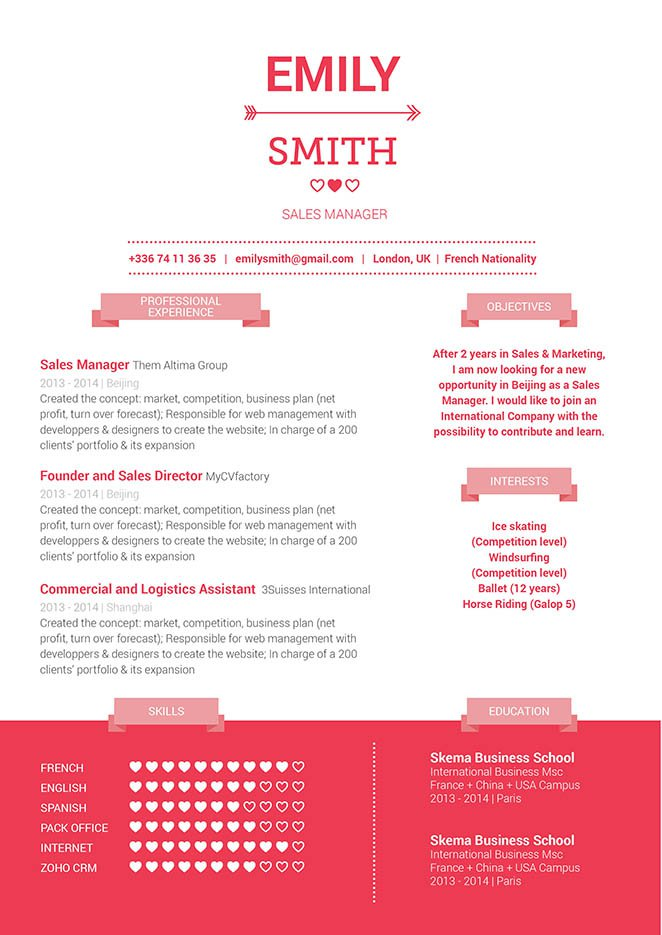 Clean and well-formatted great resume template