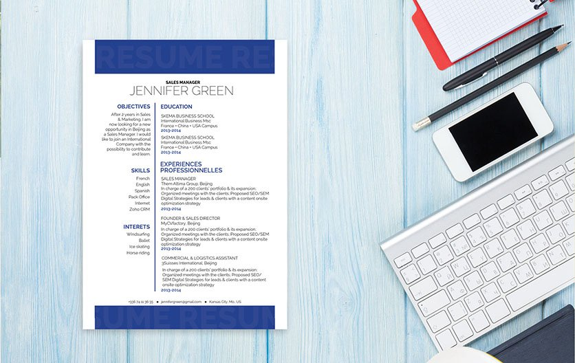 A great resume with a great design perfect for any type of career