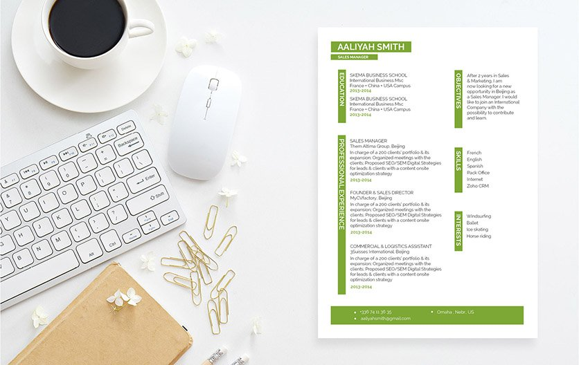 A creatively crafter professional resume template that will get you hired