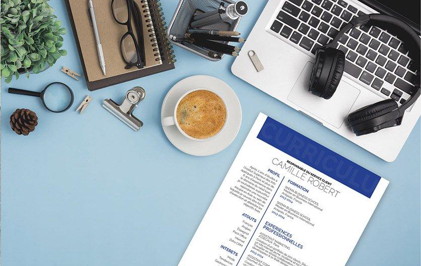 Un exemple de CV avec une mise en page convaincante, usant d'encadrés rouges, et variant les caractères pour indiquer les points clés du document.