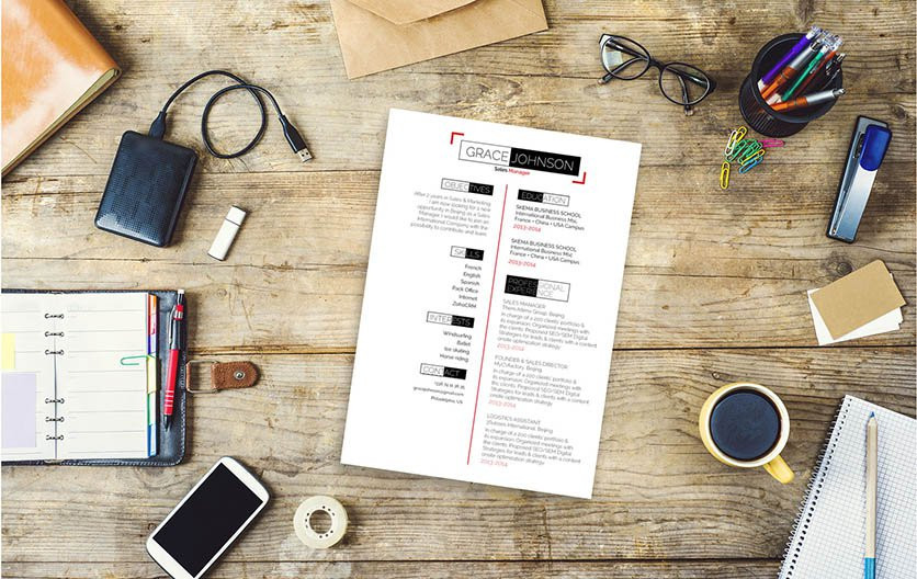 A profesional CV with key parts that make you stand out!