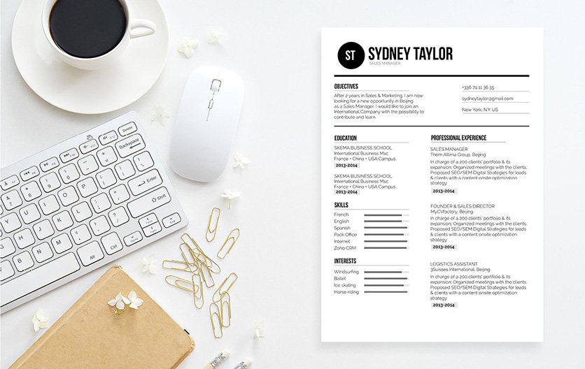 All the relevant information is excellently presented in this functional resume template
