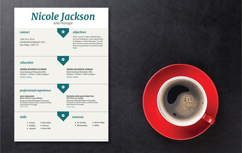 A template with a great cv format design so you can create a great resume!
