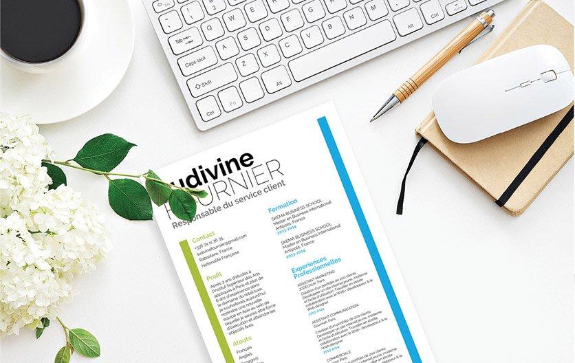 Un exemple de CV stylé affichant le caractère organisé du postulant.