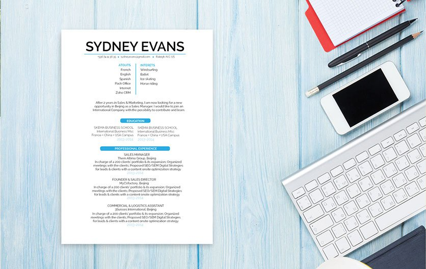 The best resume layout for your job hunting! Clear and functional for all job types