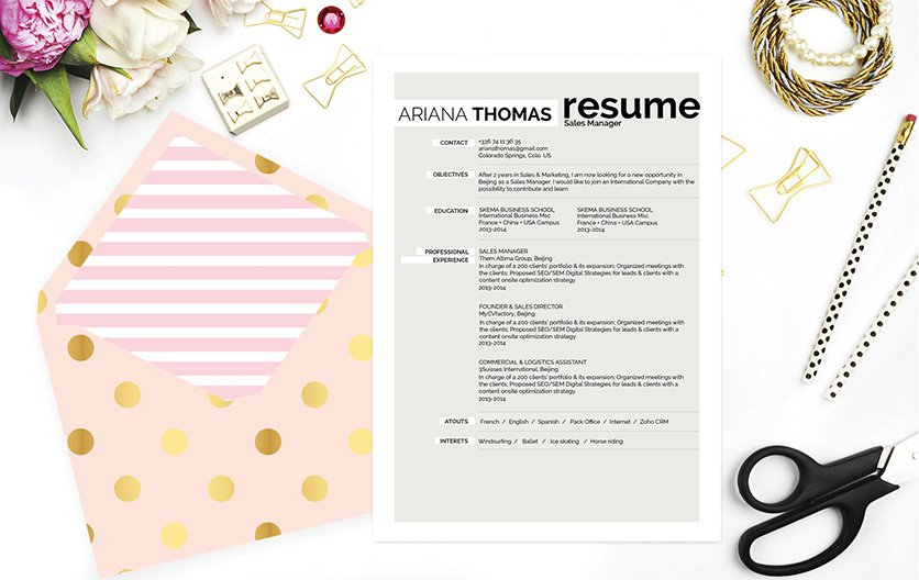 A simple resume format that will simply impress your recreuiter