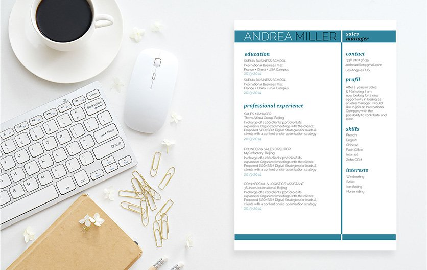 A cv format that makes making the perfect resume quick and easy!