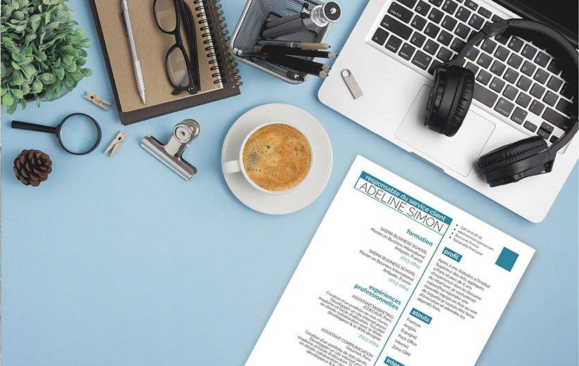A travers un bon design bien pesé, cet exemple de CV privilégie une mise en page simple, mais assez percutante.