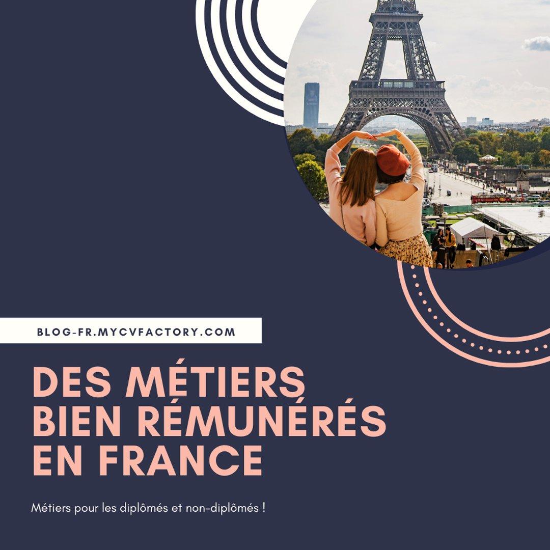 métiers bien rémunérés en France