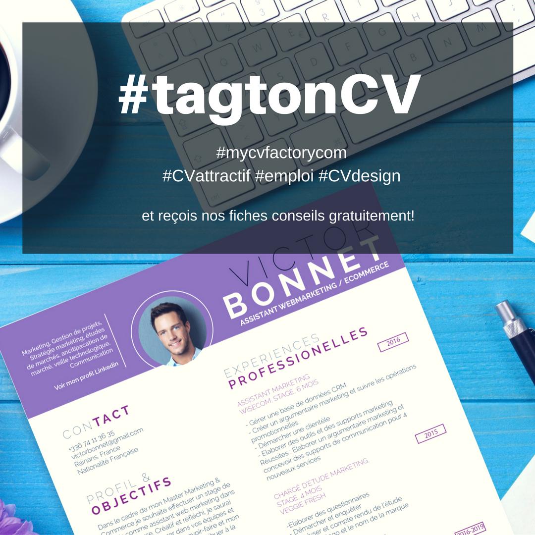 TagtonCV instagram mycvfactory